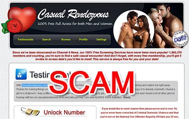 CasualRendevous.com scam